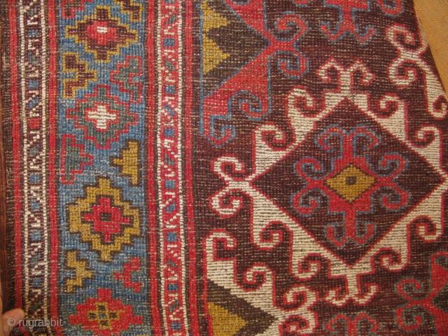 "Central Asia Upper Amu Darya region Turkmen rug. No repairs. Circa 1900 Size: 65"" x 140"" - 165cm x 357cm."