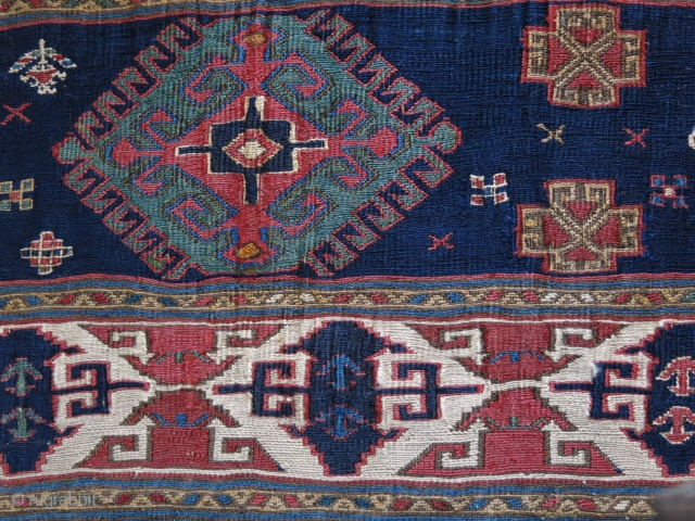"""Shahsavan bedding bag large end panel, fine sumak Weave with great natural colors. Circa second half of 19th cent. Size : 26"""" X 18"""" - 67 cm X 46 cm"""