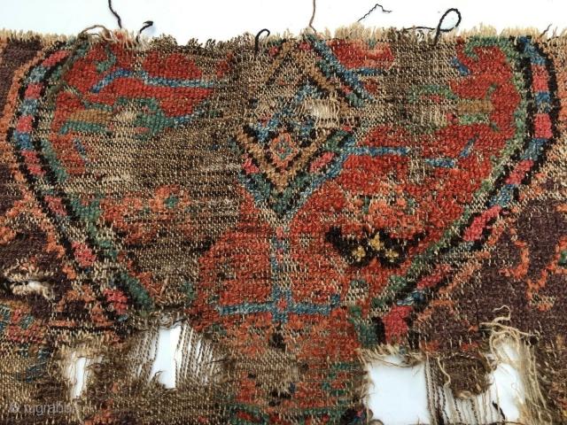 Anatolian Konya rug fragment. Circa early 19th. century.