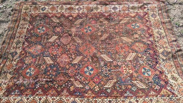 Shekarlu Rug,Washes'I tribe Southwest Persia circa 1850  Size 226cm 167 cm