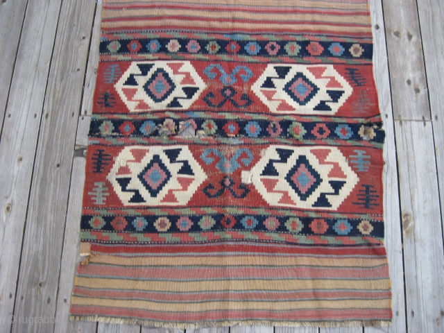 Antique Shahsavan or Shirvan mafrash panel fragment from around 3rd Qtr 19th C. 