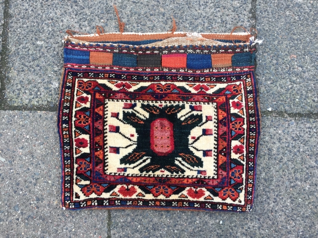 "A lovely small personal bag or so called ""chanteh"" woven by Afshar tribes of South-Persia, nice collector´s piece, size: ca. 40x35cm / 1'3''ft x 1'1''ft"