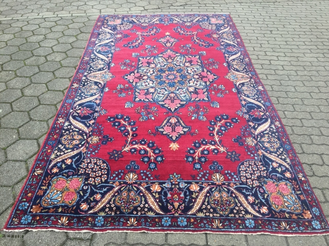 Fine antique Persian Yazd carpet, age: circa 1920, size: ca. 335x185cm / 11ft x 6'1''ft