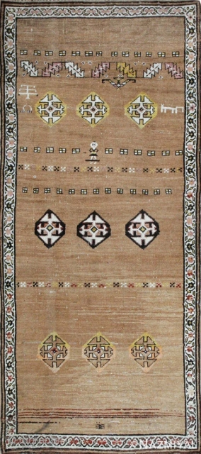 """FEB 6th Auction.Antique Persian Bakhshaish , Circa 1890's. Size is 3'8"""" x 8'7"""" ( 1.12 M x 2.62 M ).This auction includes antique rugs, vintage rugs, oriental rugs and tapestry collection  ..."""
