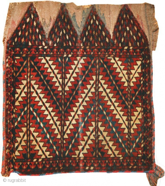 """Antique Yomud Bag 43929, Size: 1'11"""" x 2'3"""", Origin: West Turkestanian, Circa: Late 19th century - This tribal antique Yomud bag features intense, pure colors, including vibrant Persian blues, along with the  ..."""