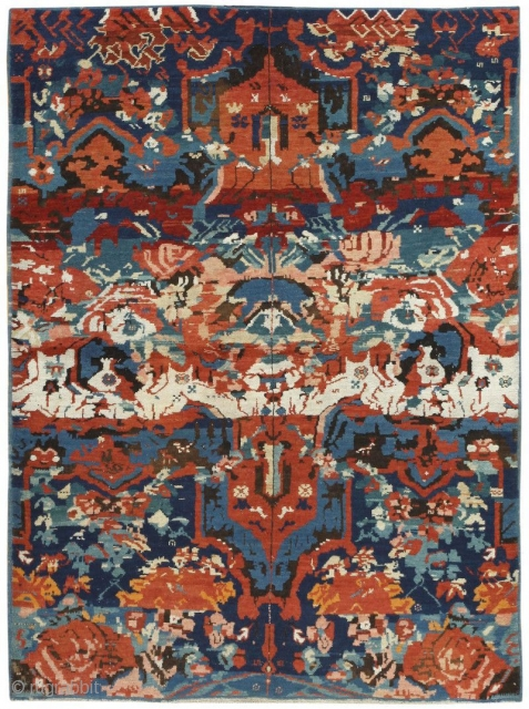 "Antique Caucasian Seychour Rug 50040, Size: 3'10"" x 5', Circa 1900 -- The bold pattern and exquisite detail of this magnificent Seychour rug suggests a summer evening rich with the perfume of lush  ..."