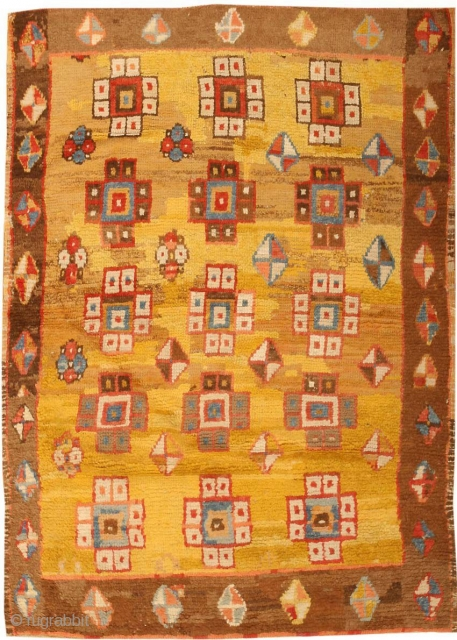 "Antique Turkish Konya 3093, Size: 3'11"" x 5'3"", Country Of Origin: Turkey, Circa Date: Early Part Of The 19th Century - Though one might not at first recognize them as such, a  ..."