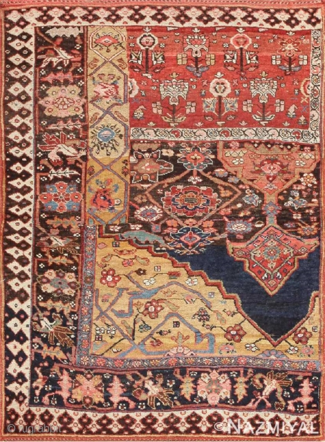 This rug is part of our June 18th auction.Antique Persian Bidjar Sampler rug , Circa 1890's.This auction includes antique rugs, vintage rugs, oriental rugs and tapestry collection from all major weaving countries.  ...