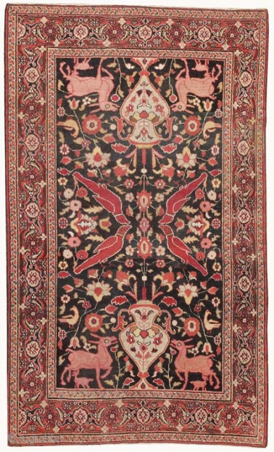 "Antique Persian Khorassan Rug 44612, Size: 4' x 6'5"", Origin: Persia, Circa: Late 19th Century - Here is a truly wonderful antique rug – a Khorassan piece made in Persia some time toward the  ..."