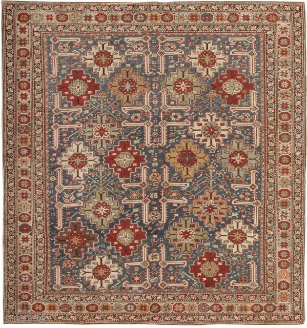 AntiqueShirvan Rug, Origin: Caucasus, Circa: Late 19th Century - Here is an exciting and beautifully woven antique Oriental rug - an antique Shirvan carpet woven in the Caucasus during the waning years  ...