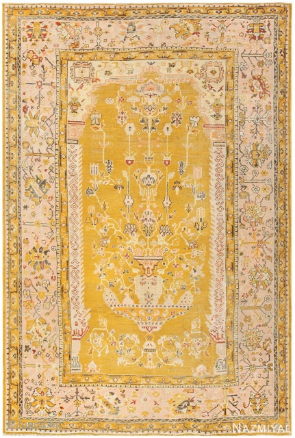 This magnificent Oushak is part of our Oct 15th auction.Antique Turkish Oushak carpet , Circa 1900's.