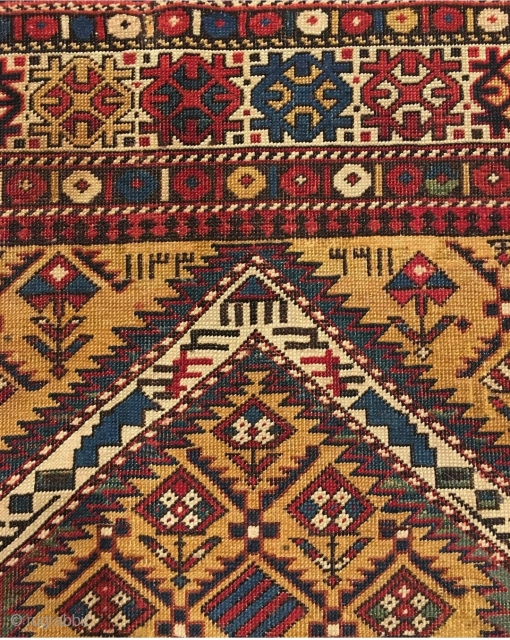 Dated Caucasian prayer rug from our upcoming auction.   Our October 15 auction is coming together nicely. Lots of exciting pieces! From collectible to decorative - this sale will have it all!  Register today!  www.nazmiyalauctions.com