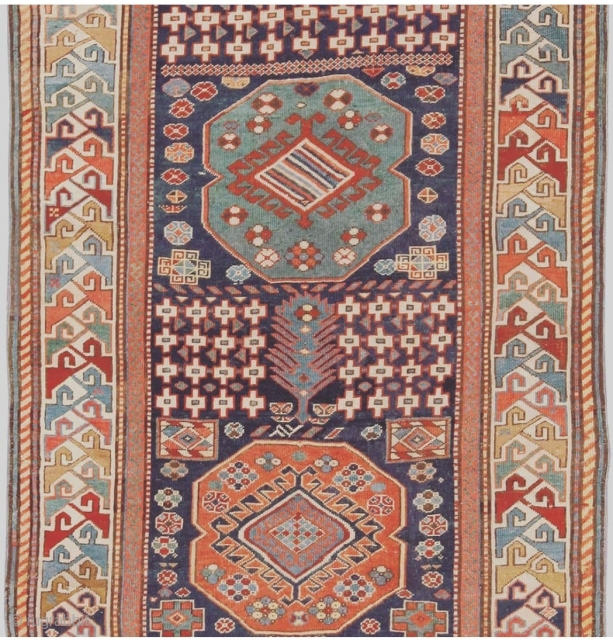 Akstafa rug. Another jewel from our upcoming auction.   Our October 15 auction is coming together nicely. Lots of exciting pieces! From collectible to decorative - this sale will have it all!  Register today!  www.nazmiyalauctions.com
