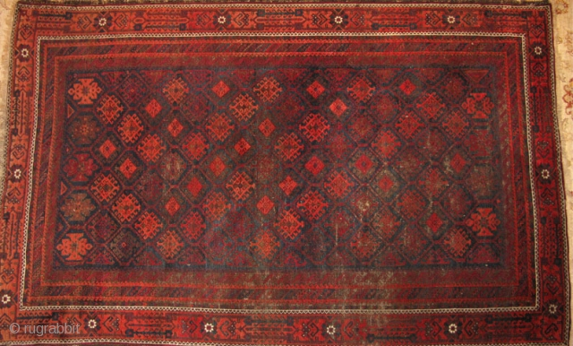 """Delicious Belouch (Baluch) main carpet. Don't know why but I'm not really found of the spelling """"Baluch""""...? Oh well, to each their own. Anyway, here is a killer 100+ year old tribal  ..."""