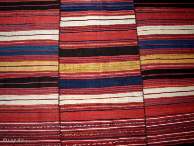 Kilim cod. 0582. Wool. Mazandaran area.Northwestern Iran. Late 19th. century.Perfect condition. Cm. 145 x 202 (57 x 79.5 inches).             