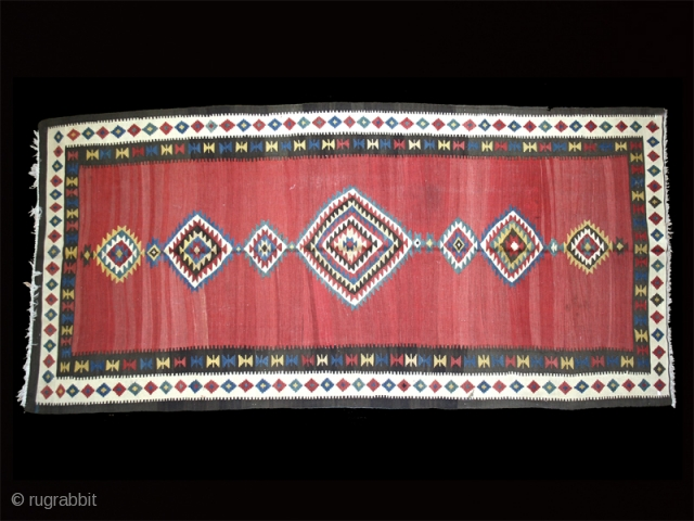 "Kilim cod. 0201. Wool natural dyes. Shahsavan people. Northwestern Persia. late 19th. century. Very good condition. Cm. 165 x 355 (5'5"" x 11'8""). SPECIAL  AUGUST  SUMMER  SALE."