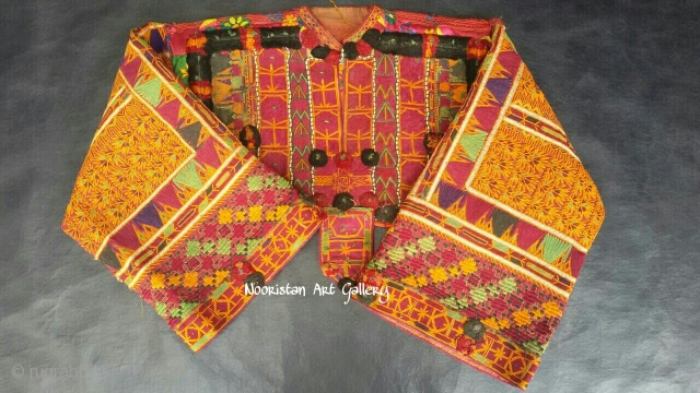 Very special and rare quality Tribal Pashtun kakar woman dress top from Afghanistan..Complete hand embroidery done with silk threads.