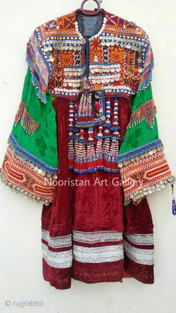 High quality Special Pashtun tribal woman dress from Afghanistan.The embroidery is handmade and exquisite.Such a fine and wearable dress it is.
