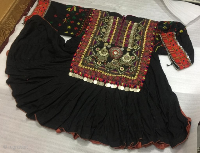 Tribal wedding dress of the bride called Jumlo from Kohistan 