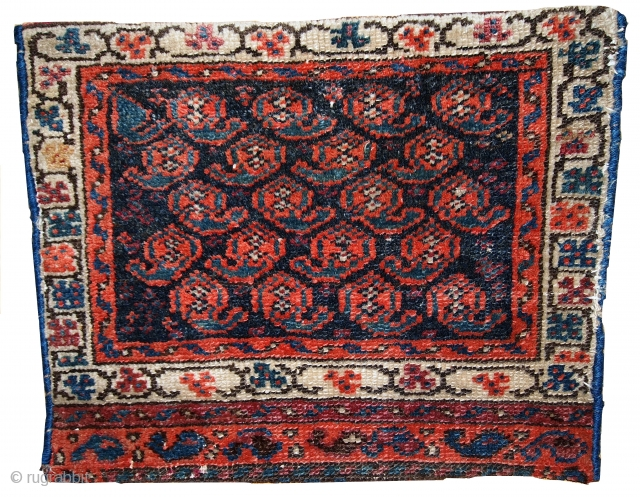 #1C361  Handmade antique collectible Persian Malayer bag face 1.2' x 1.5' ( 37cm x 46cm ) 1900.C