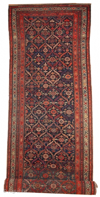 #1B437  Hand made antique Caucasian Karabagh runner 2' x 10' ( 100cm x 356cm ) C.1920