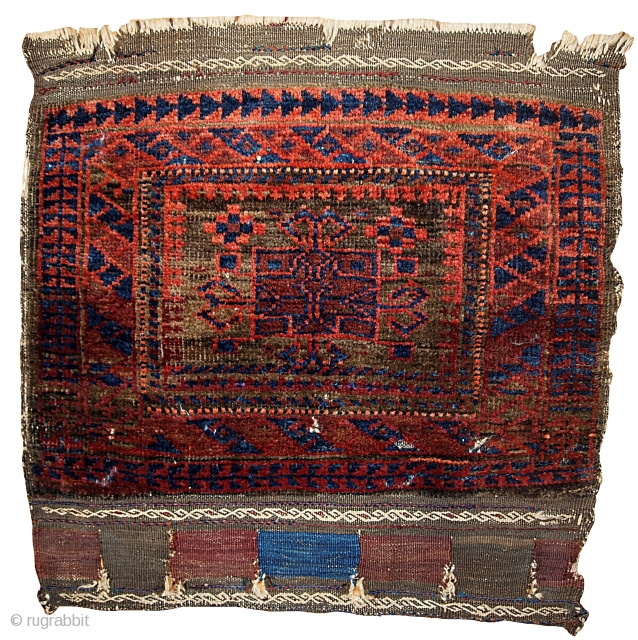 #1B338  Hand made antique collectible Afghan Baluch bag face 1880.C