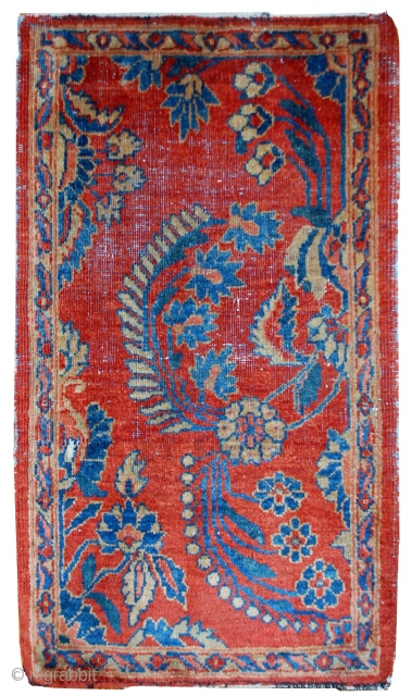 #1B485 Hand made antique Persian Mahal Vagireh rug 2,1' x 3,10' ( 64cm x 121cm ) 1900.C