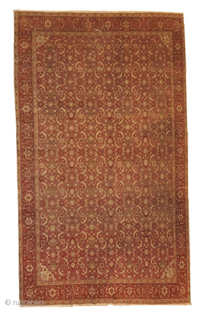 #1B147  Hand made antique Indian Amritsar rug 6.11' x 9.7' ( 216cm x 295cm ) 1900.C