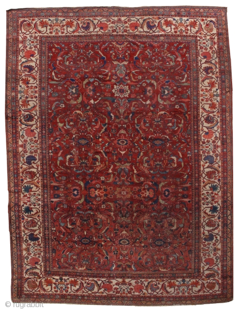 #1B458  Hand made antique Persian Sultanabad rug 9.10' x 13' ( 303cm x 396cm) 1880.C