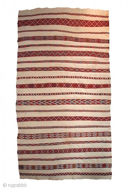 #1C214  Hand made antique Mroccan kilim 5.2' x 8.5' ( 159cm x 261cm ) C.1950s
