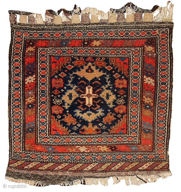 #1B334 Hand made antique collectible Persian Malayer bag face 2' x 2.3' ( 61cm x 70cm) 1900.C