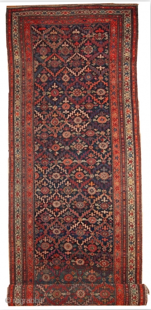 #1B437  Handmade antique Caucasian Karabagh runner 2' x 10' ( 100cm x 356cm ) 1880.C