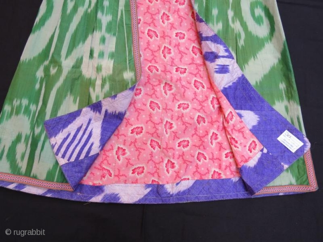 Uzbek ikat kaftan in good condition .