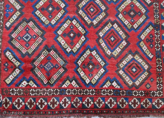 Antique Kyrgyzstan Rug with pure wool natural color in good condition.245x152cm