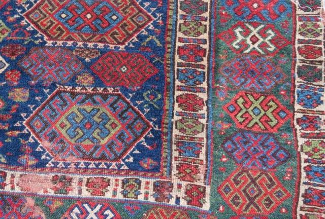 Early Jaff kurdish rug with damage, 210 x 160 cm