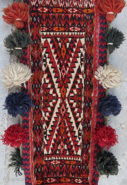 Vintage Turkmen Yamut Torba in good condition with tassel.90 x 60 cm