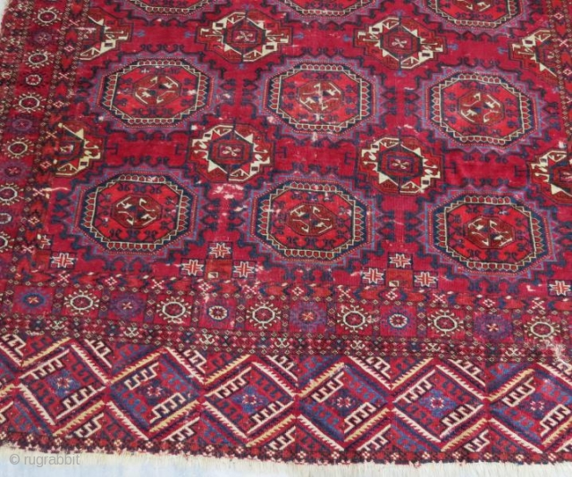 Tekke main rug with damage,240 x 120 cm
