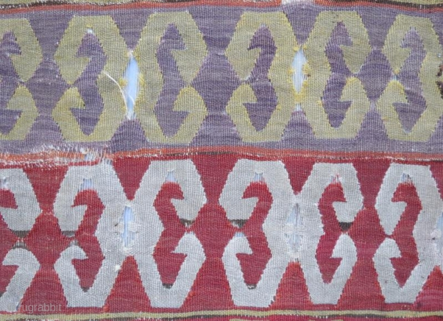 early anatolian kilim fragment .306 x 80 cm