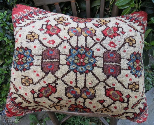 Antique a pair of rug pillow,60 x 48 cm 
