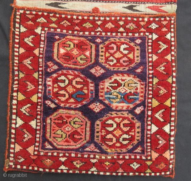 Antique anatolian saddle bag pile ,110 x 43 cm