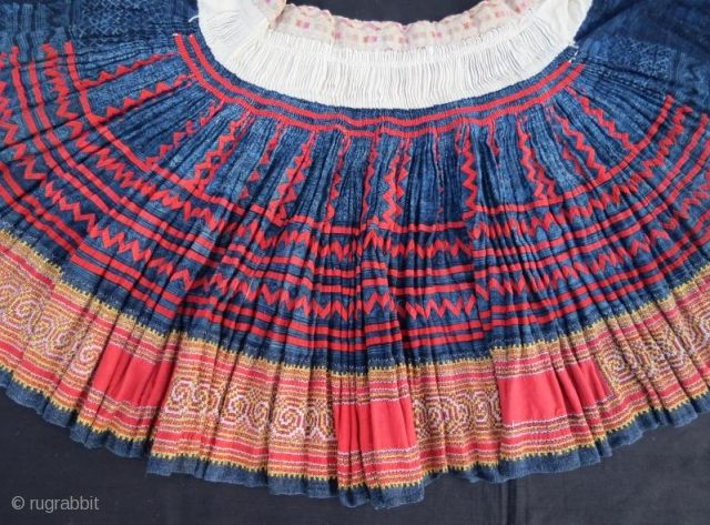 Antique Skirt from Chine,pure cotton with silk embroidery