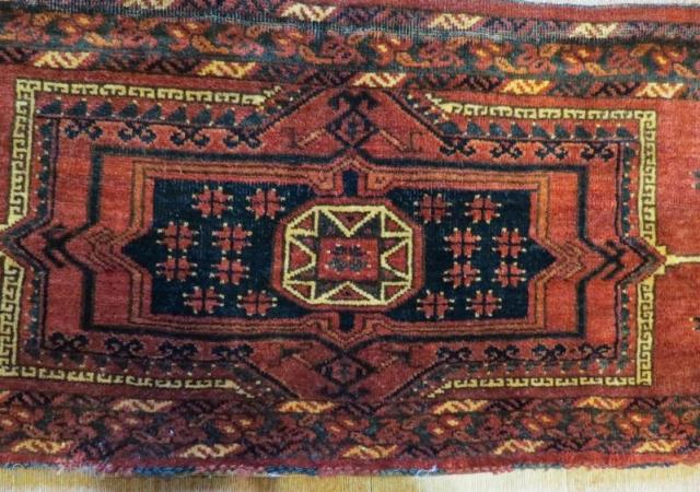 Ersari Torba,Pure wool natural color .140 x 47 cm