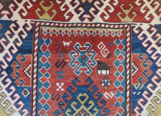 Antique caucasian rug in good condition,216 x 136 cm . www.eymen.com.tr