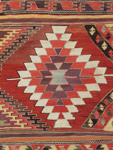 19.th Century Karapinar Kilim sıze 163x363