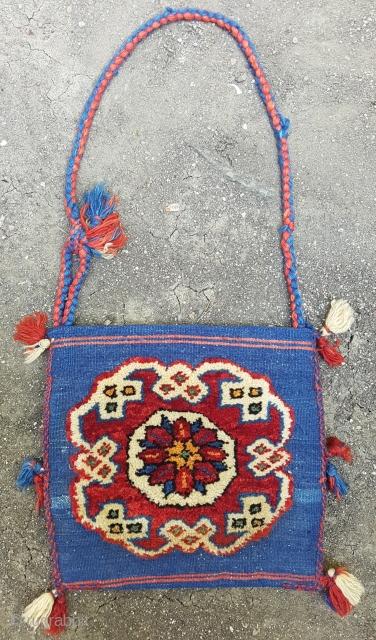 Anatolian Heybe Circa 1950 Size 32x34 cm