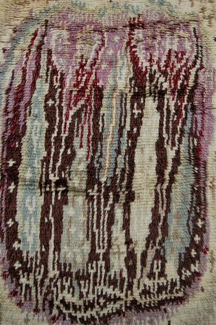 Mid century Finnish rya rug. This design is named Kaukametsä and is one of the most loved Rya models in Finland. Designed in 1956 by rug designer Aappo Härkönen, Perfect condition. Aprox.  ...
