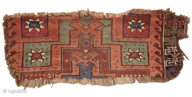 Central Anatolian Stepped Prayer Rug Fragmnet