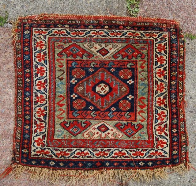 Kurdish bag. Good colours. 19th.c.