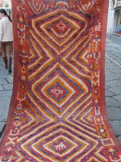 Old Berber rug nice design,full pile size : cm.320*150 p.cat