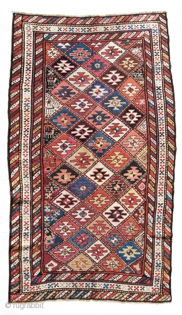 Old Kurdish rug, nice design,animals ,people  Size:230*130 p.cat